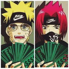 Image result for naruto money nike