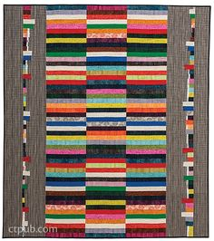 Strips and Selvages Quilt pattern by Jennifer Sampou | C and T Quilting