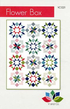 Flower Box quilt pattern by V and Co.