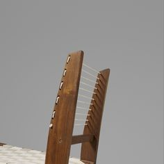 PIERRE JEANNERET Rare Demountable chair from Chandigarh France/India, c. 1953 teak, cord, canvas strapping