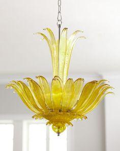 Crystal Pendant Lighting, Chandelier Pendant Lights, Modern Chandelier, Crystal Chandeliers, Pendant Lamp, Flower Chandelier, Traditional Pendant Lighting, Yellow Pendants, Yellow
