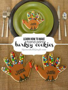 turkey hand cookies