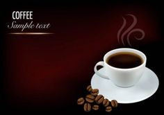 Fine coffee elements vector