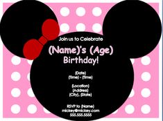 Mouse Birthday Party Invitation http://www.invitationtemplates.org/mouse-birthday-party-invitation