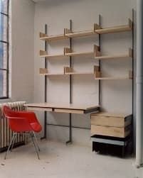 Wow factor. We were getting ready to do our Top 10 adjustable shelving list and thinking that Vitsoe would be at the top, when we got a call from a friend who just joined Atlas Industries. He directed us to pics of their AS4 shelving system and we were floored. How come we haven't seen this before? Combining the strength and thin lines of steel with the warmth and texture of wood, the AS4 shelving is the perfect solution to a modern apartment without going all hi-tech and industrial. Like…