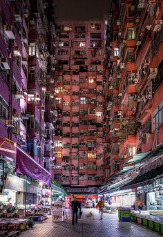 Hong Kong Night, Urban People, Hongkong, Walled City, City Aesthetic, Ghost In The Shell, Slums, Night City, Night Photography