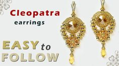 How to make jewelry Cleopatra earrings and pendant - YouTube