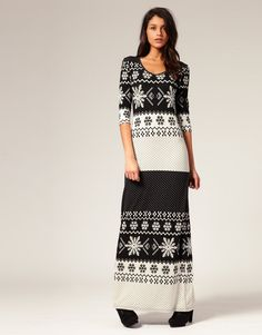 Vero Moda Knitted Nordic Pattered Maxi Dress $75.31NOW $41.24