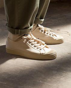 Fatigue pant in Japanese selvedge cotton ecru summer sock uw x  novesta star  master sneaker 17cde16b5