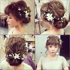 \前髪が短い花嫁さんへ♡/最高にキュートな【前髪あり】のウエディングヘア7選♩*にて紹介している画像