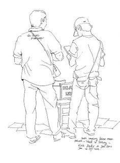 jatmika sketch & drawing: Kau Nyeket kau aku sket