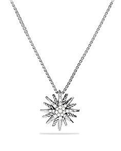 David Yurman Starburst Small Pendant with Diamonds on Chain | Bloomingdale's