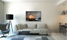 Smoky Bulb Metal Wall Art Decor printed on Brushed Aluminum by Buttered Kat (Medium , inches) Furniture, Wall Sculptures, Wall Art Decor Prints, Metal Wall Art Decor, Wall, Home Decor, Wall Stickers Murals, Creative Home, Brushed Aluminum