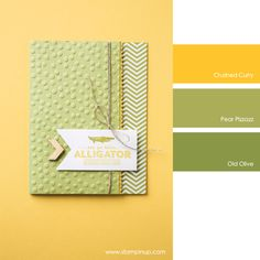 Stampin' Up! Color Combo: Crushed Curry, Pear Pizzazz, Old Olive #stampinupcolorcombos