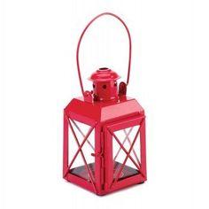Mini Crisscross Candle Lamp Red