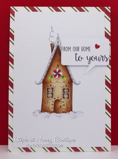 Stamping Bella Gingerbread House rubber stamp. Click through to read the blog…