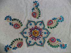 Kundan stone rangoli