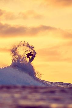 Medina, monster rotation at sunset. Photo: Trevor Moran #surfing