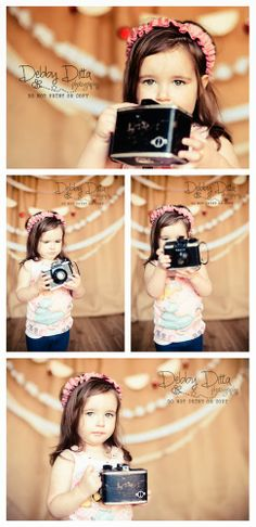 Little girl with a vintage camera.  Valentine hearts mini session set. Debby Ditta Photography Tomball, Spring, Cypress, Magnolia, Conroe, Montgomery, Houston, Texas: My Punkin baby Photographer
