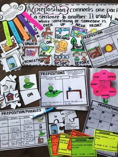 Teach prepositions w