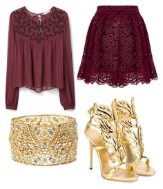 """""""Untitled #337"""" by rose-tyler-i-doctorwho on Polyvore featuring Alice + Olivia, MANGO, Giuseppe Zanotti, Charlotte Russe, women's clothing, women, female, woman, misses and juniors"""