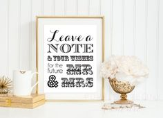 Engagement Party Decor Sign Guest Book Decor Leave a Note Wishing Tree Digital Printable Pdf INSTANT DOWNLOAD