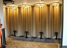 Fitting room curtains - Alida curtain makers   Curtains made by Alida Fabrics from KEES Collection