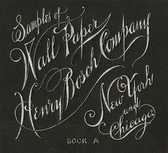 Henry Bosch Company / Wall Paper   Sheaff : ephemera