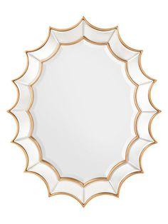Oval Scalloped Mirror by John Richard at Gilt