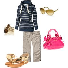 Spring Casual - I can't wait for sandals and capri pants!