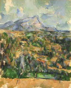 Paul Cézanne (1839–1906). Mont Sainte-Victoire, c. 1902. Oil on canvas. Princeton University Art Museum, New Jersey. On view through June 2014 at the Ashmolean Museum, Oxford, UK.