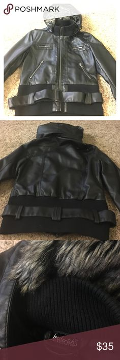 Frederick's of Hollywood faux leather jacket Fredrick's of Hollywood faux leather jacket, brand new without tags, never worn. Frederick's of Hollywood Jackets & Coats Utility Jackets