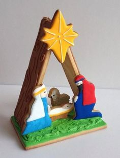 Gingerbread nativity for Christmas