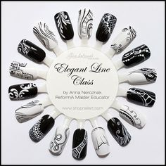 Elegant Line Class by Arinita - Nail Art Gallery nailartgallery.nailsmag.com by Nails Magazine www.nailsmag.com #nailart