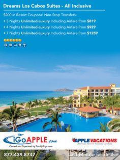 Apple Vacations, Dreams Resorts, Non Stop, All Inclusive, Last Minute, Night
