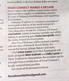 Clients in the media: Food Connect Brisbane's 10th Birthday in The Courier Mail