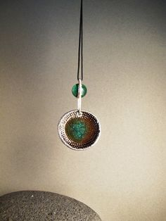 Rhodium plated electroformed copper glass and by AurumgirlStudio