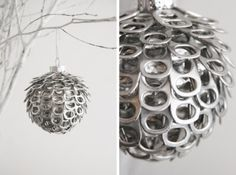 9 Handmade Ornaments Made From Recycled Items 9 Handmade Ornaments Made From Recycled Items – Recycled Crafts Soda Tab Crafts, Can Tab Crafts, Christmas Crafts, Pop Top Crafts, Hallmark Christmas, Diy Christmas Decorations Easy, Diy Christmas Tree, Simple Christmas, Tree Decorations
