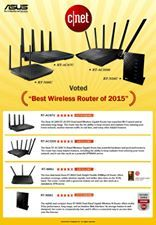 """ASUS Routers are voted as """"Best wireless routers of 2015"""" by Cnet.."""