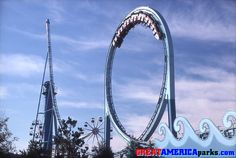 The Tidal Wave was the first new roller coaster added to the Marriott's GREAT AMERICA parks. To lure opening-season guests back for the Tidal Wave rolled out across Yankee Harbor in San… Roller Coasters, Short Vacation, Great America, Best Memories, Childhood Memories, Extraordinary People, Niece And Nephew, My Ride, Santa Cruz