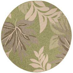 Bay Isle Home Leavitt Garden Design Green Indoor/Outdoor Area Rug