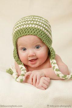 FREE Crochet Pattern -  Earflap Hat by Cute as a Button