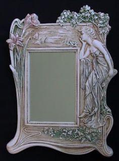 Art Nouveau Mirror - photo from ArtNouveau blog