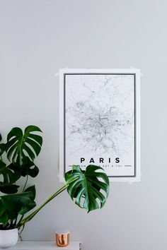 Minimalist Maps From Mapiful: Decorate Your Walls!