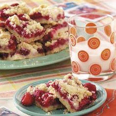 Contest-winning Raspberry Patch Crumb Bars.  Read the comments to see how people have varied the recipe.