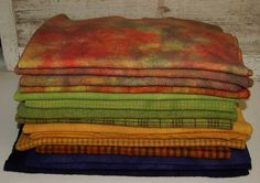 YUMMY AUTUMN COLORS hand-dyed by Wool-N-Wares @ http://stores.shop.ebay.com/wool-n-wares