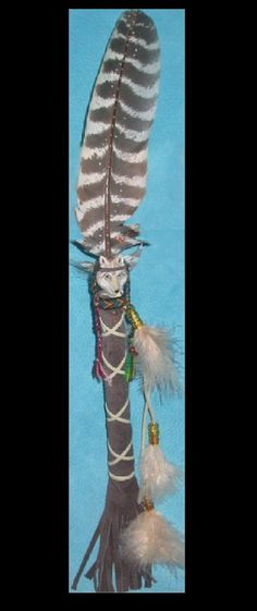 grandmother wolf feather talking stick