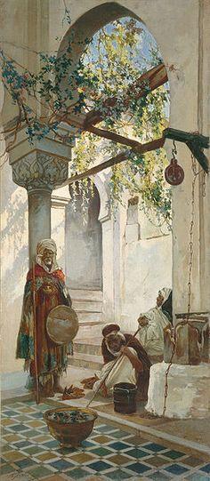 Entrée d'une mosquée,  1882 par Valery Jacobi.