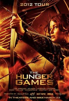 The Hunger Games Mall Tour Poster - Jennifer Lawrence readies her bow and arrow in this new one-sheet for the upcoming Lionsgate adaptation. Hunger Games Poster, The Hunger Games, Hunger Games Movies, Hunger Games Catching Fire, Hunger Games Trilogy, Jennifer Lawrence, Donald Sutherland, Lenny Kravitz, Love Movie