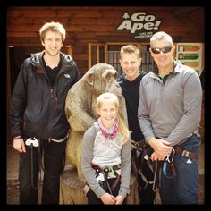 FAMOUS APES: Former England cricketer Ashley Giles joined our tribe at Haldon today.